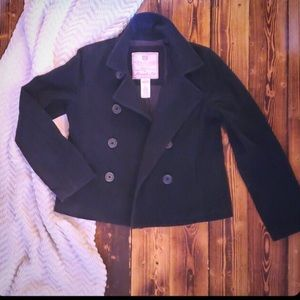 Abercrombie & Fitch Wool Blend Peacoat, LG Navy